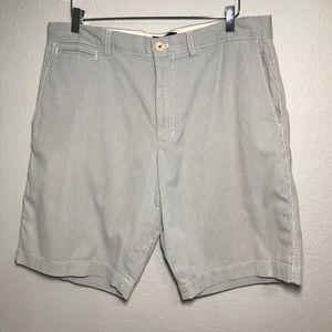 Banana Republic Gray Striped Shorts